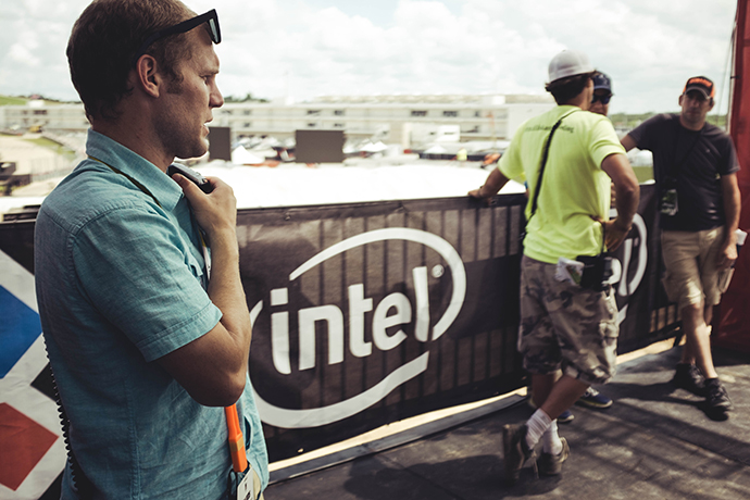 Intel is taking technology to new heights at the Summer X Games on June 2-5 in Austin, Texas. BMX riders will be riding with tiny low-power Intel Curie modules that showcase speed, spins, G-force and distance in real time. (Credit: Intel Corporation)