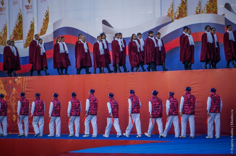 Olympic torch relay Sochi 2014 start in Russia-52
