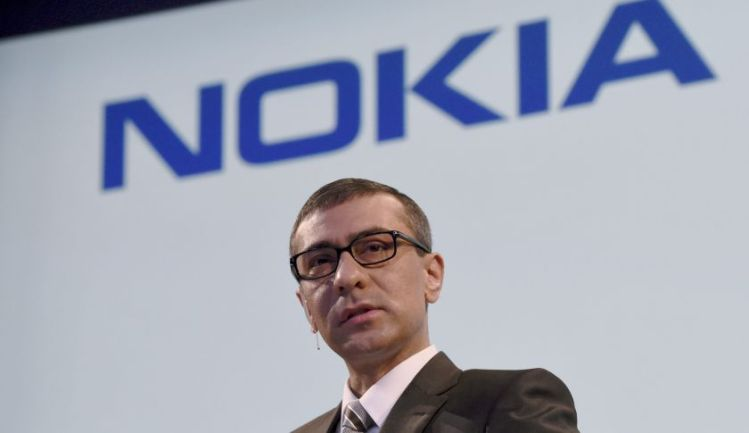 Nokia's Chief Executive Rajeev Suri addresses a press conference at the Nokia head offices in Espoo, Finland, on April 17, 2015. AFP PHOTO / LEHTIKUVA / Markku Ulander *** FINLAND OUT *** (Photo credit should read MARKKU ULANDER/AFP/Getty Images)