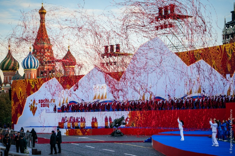 Olympic torch relay Sochi 2014 start in Russia-128