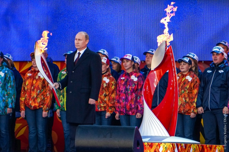 Olympic torch relay Sochi 2014 start in Russia-86