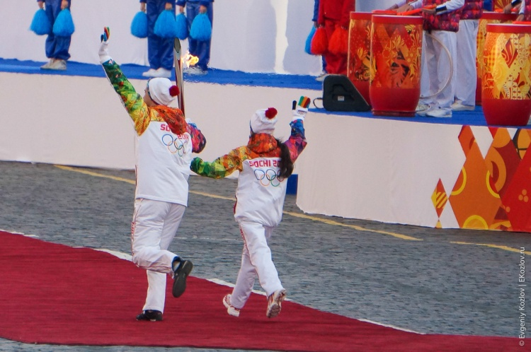 Olympic torch relay Sochi 2014 start in Russia-88