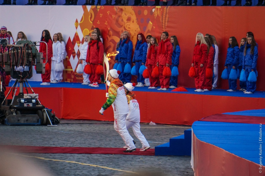 Olympic torch relay Sochi 2014 start in Russia-87