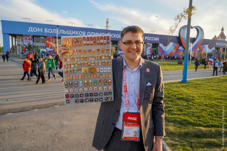 Olympic pins in Sochi2014-12